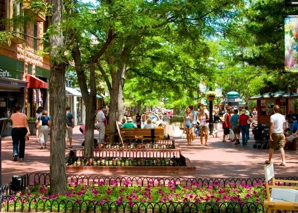 Pearl Street in Boulder Colorado Is One Of The Best Day Trips From Denver.