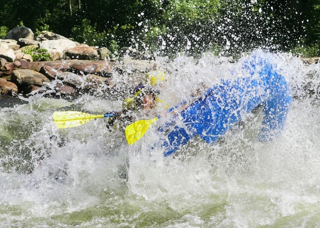 White Water Raft The Poudre River.