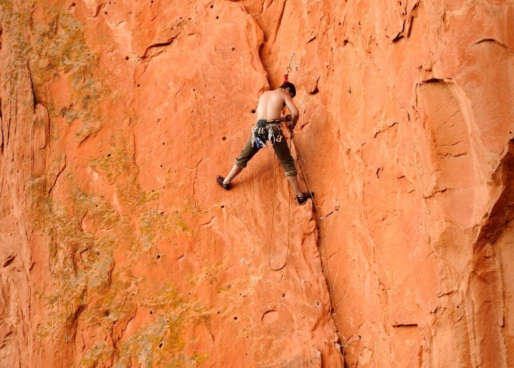 Rock Climbing At Garden of the Gods