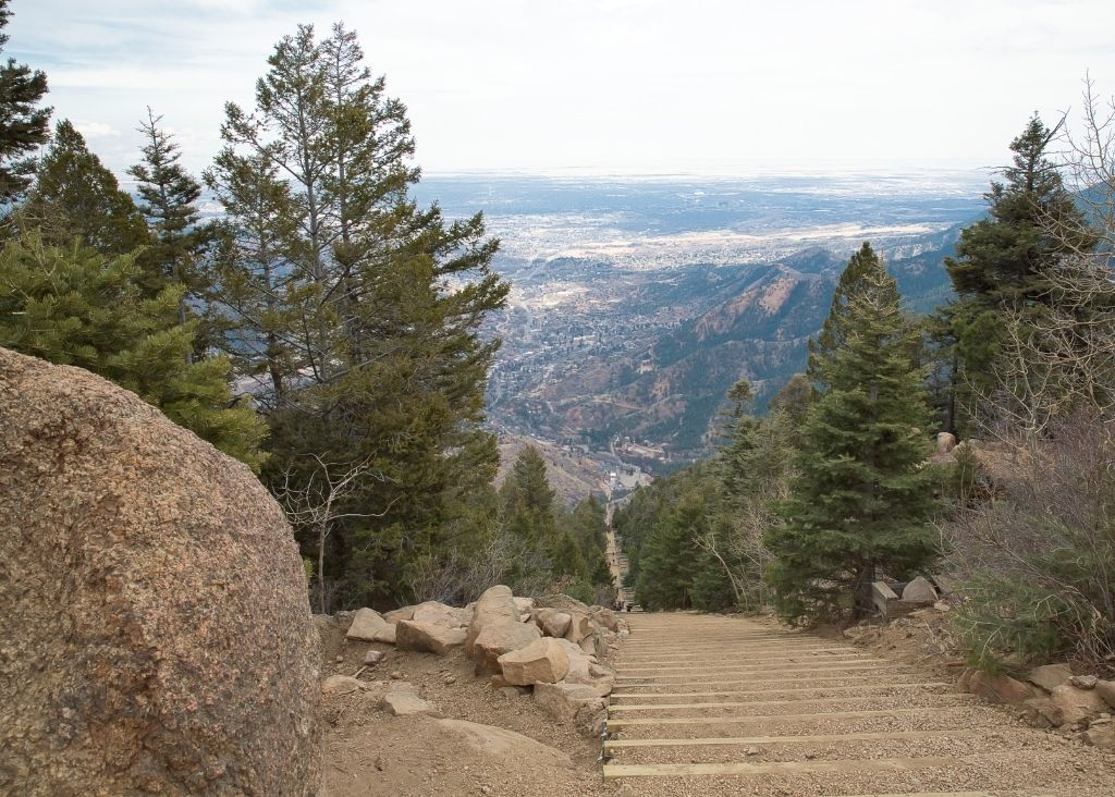 Manitou Incline Steps From Above.