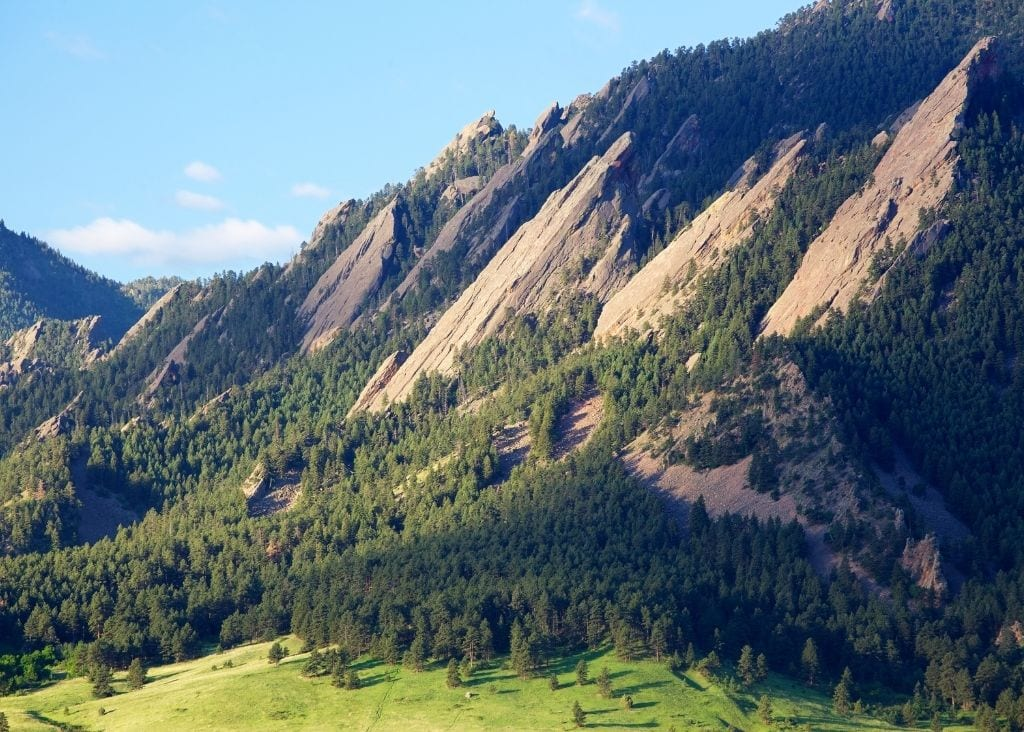 A View of the Flatirons in Boulder, Colorado.