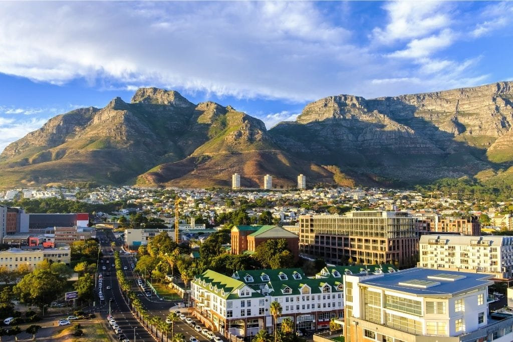 Kloof Corner Ridge - A view of Table Mountain in Cape Town, South Africa.