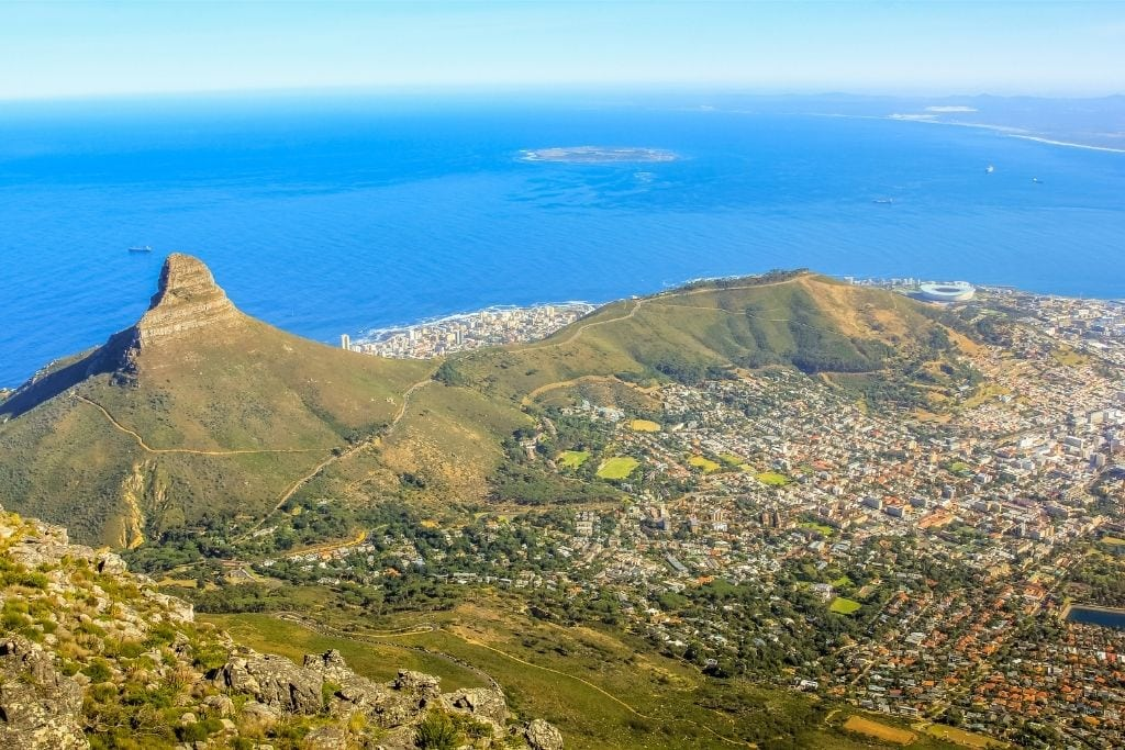 An overlook of Cape Town, South Africa.