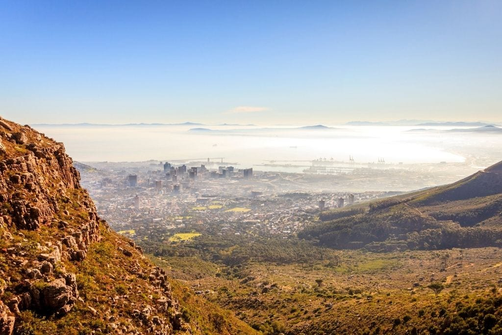 Table Mountain via Platteklip Gorge - A View of Cape Town From This Hiking Trail.