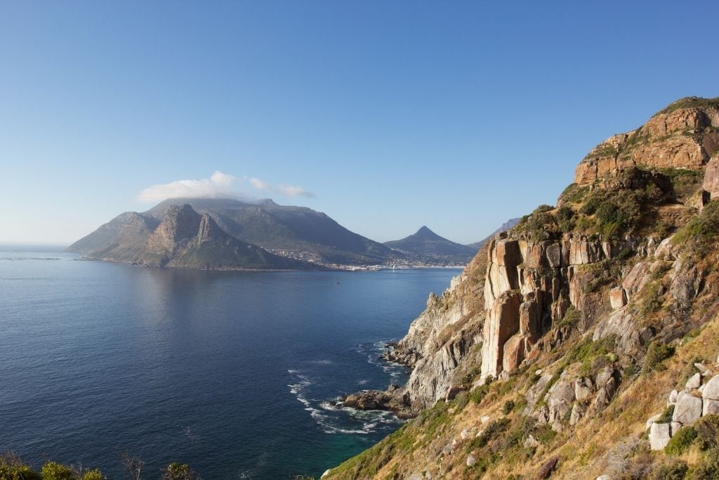Chapman's Peak in Cape Town South Africa.