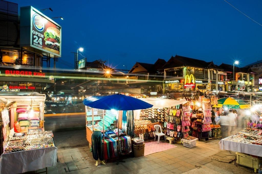 Chiang Mai Night Bazaar.