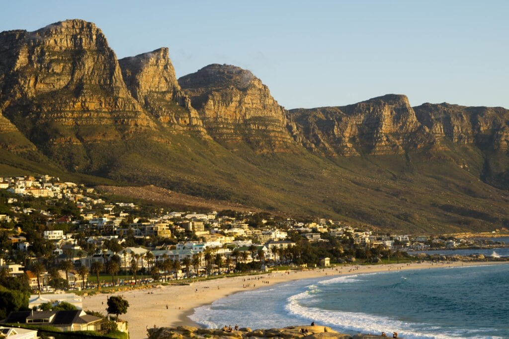 Camps Bay Beach and Town In South Africa.