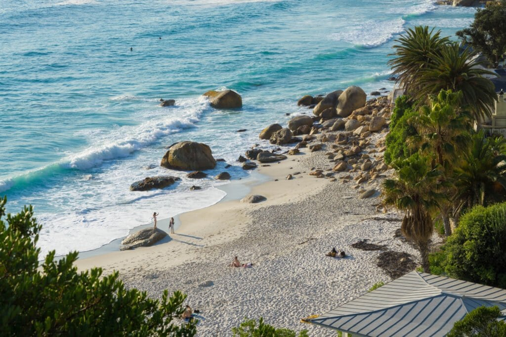 Clifton Beach From Above - One of the Best Beaches in Cape Town.