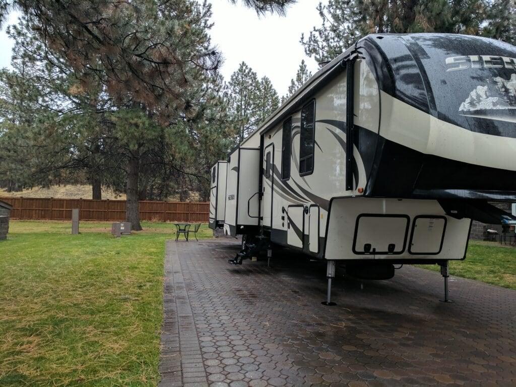 Our Fifth Wheel At Crown Villa RV Resort In Bend, Oregon.
