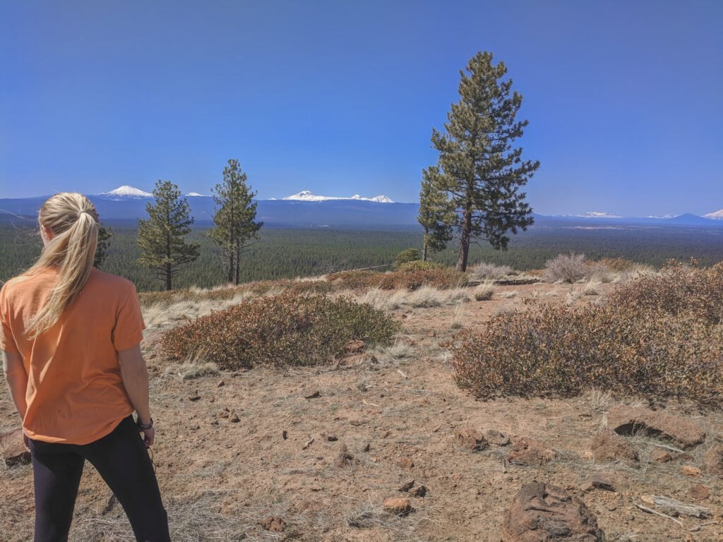 Standing On Top of Bessie Butte in Bend, Oregon - The Perfect Place For Camping.