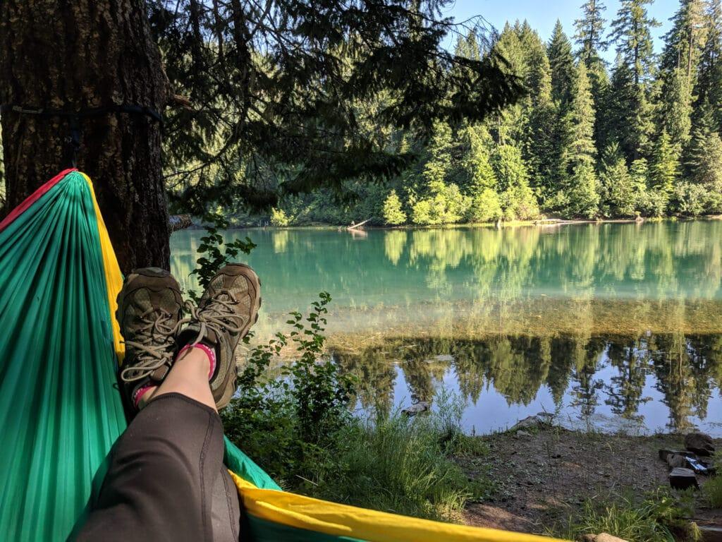Hammock Near The Lake In Oregon
