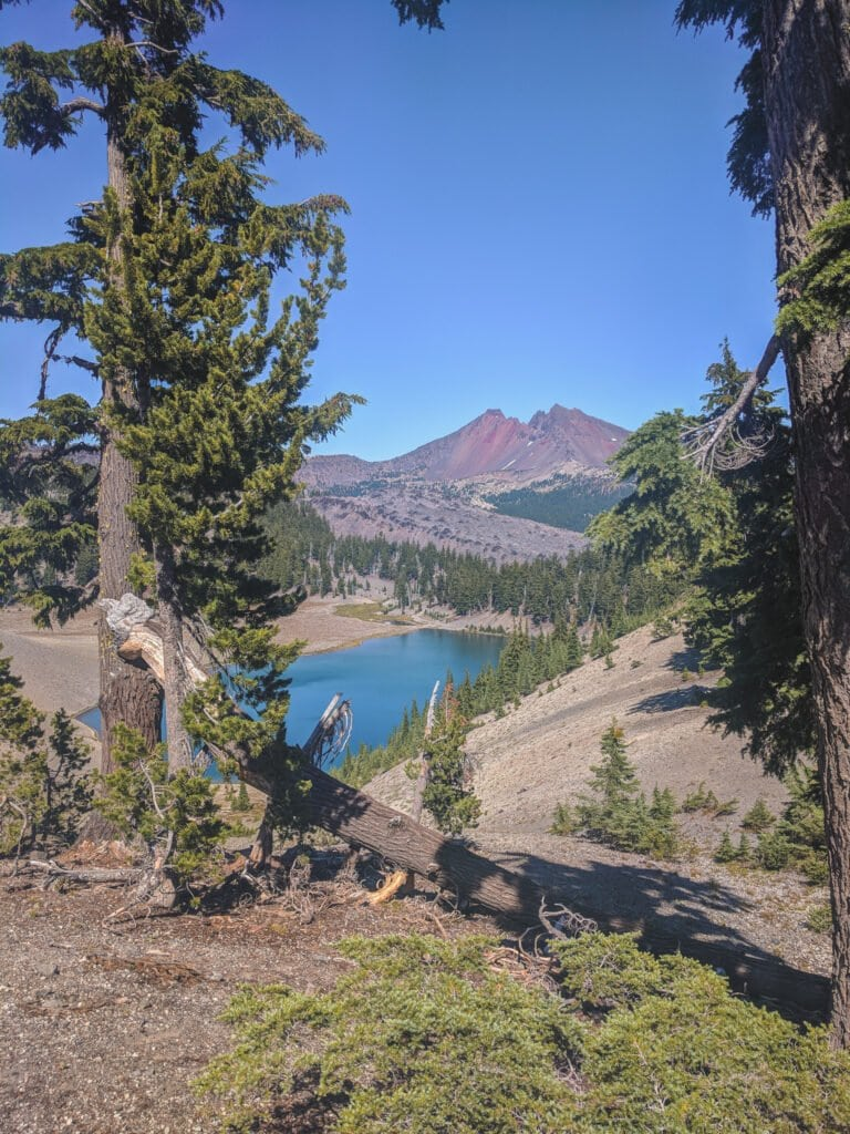 A View of Moraine Lake Campground Near Bend, Oregon.