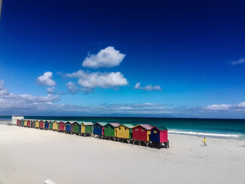 Muizenberg Beach in Cape Town - Colorful Houses On The Beach