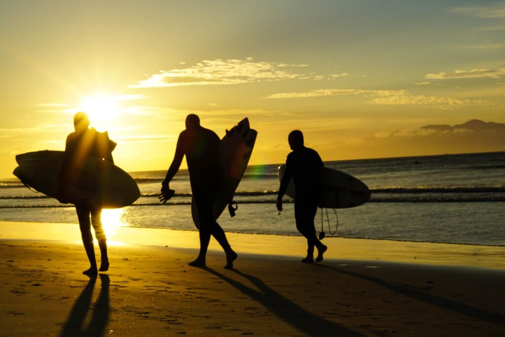Muizenberg Surfers - Walking Along One of the Many Beaches in Cape Town, South Africa.