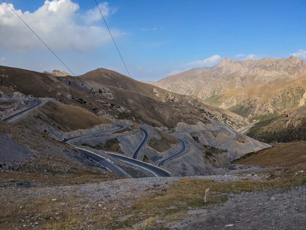 A View of the Pamir Highway From Osh, Kyrgyzstan.