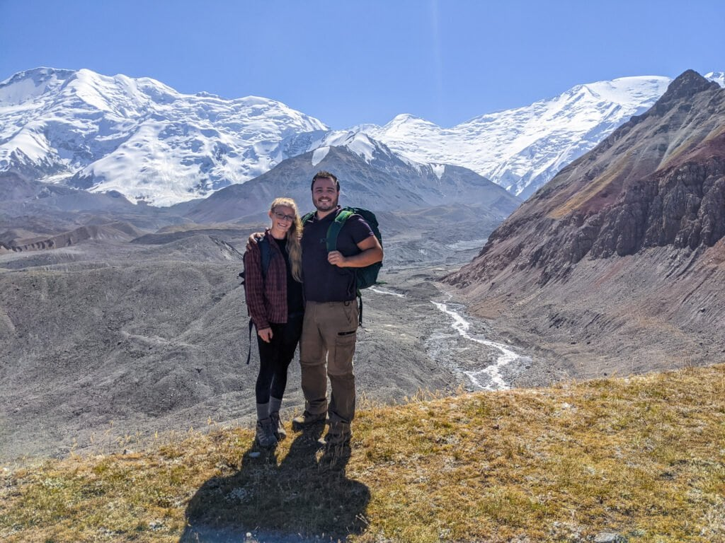 Standing At The Base of Peak Lenin; One of the Best Things To Add To Your 2 Week Kyrgyzstan Itinerary.
