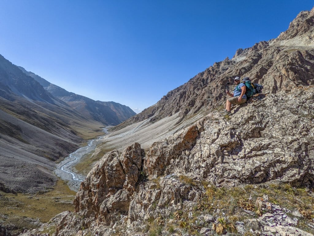 Hiking In Kyrgyzstan.
