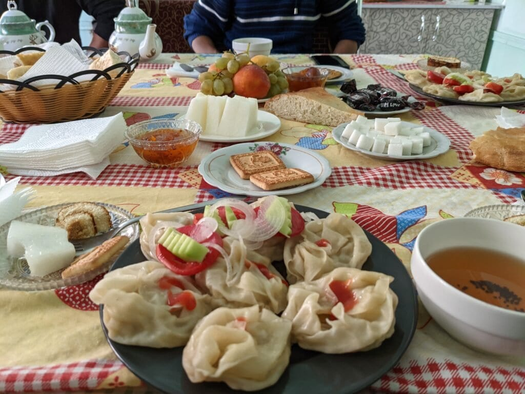 Manti, A Traditional Food Served In Osh, Kyrgyzstan.