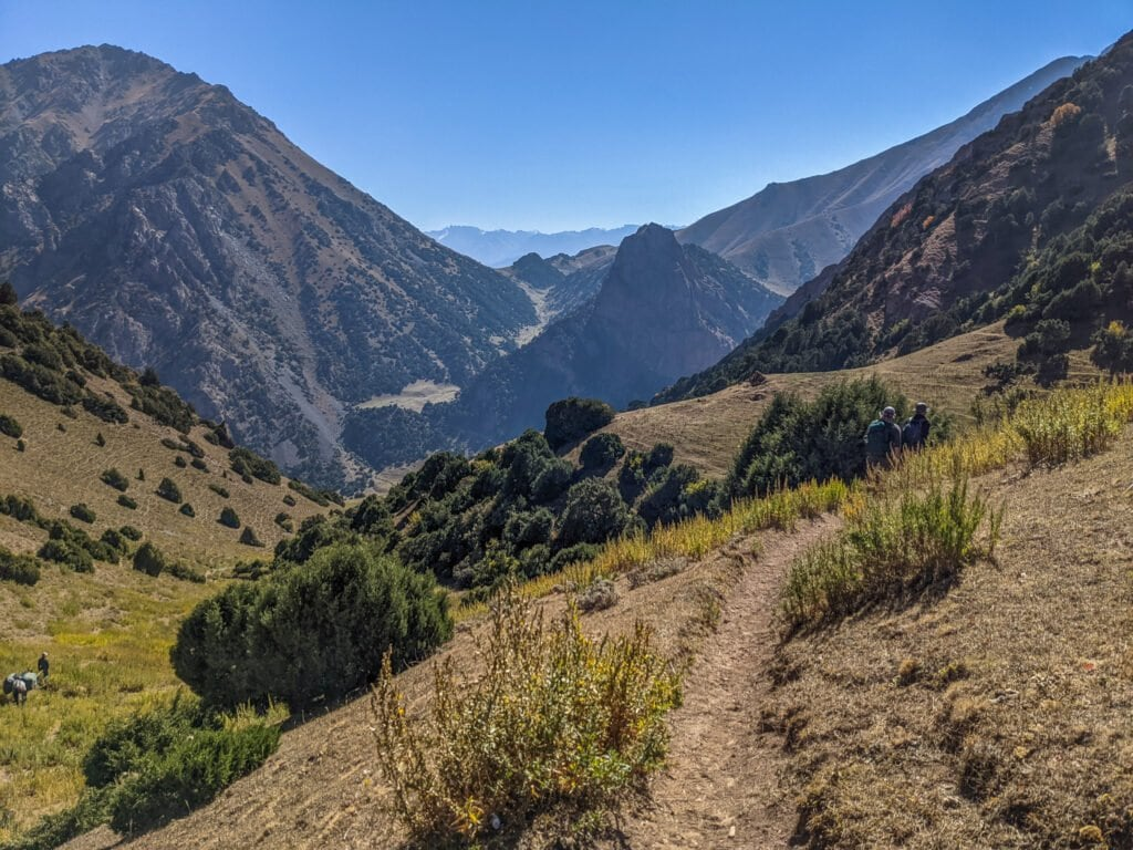 A Beautiful Valley In The Mountains of Kyrgyzstan.
