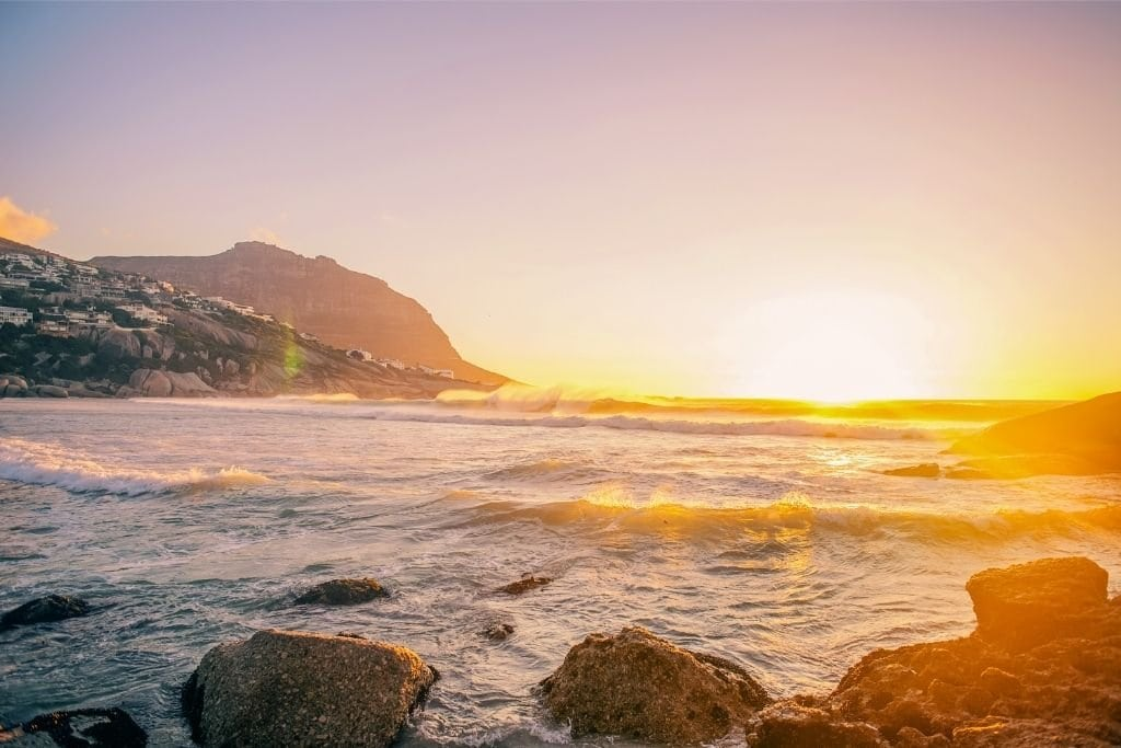 Sunset at Llandudno Beach - One of the Many Great Beaches To Watch the Sunset in Cape Town.