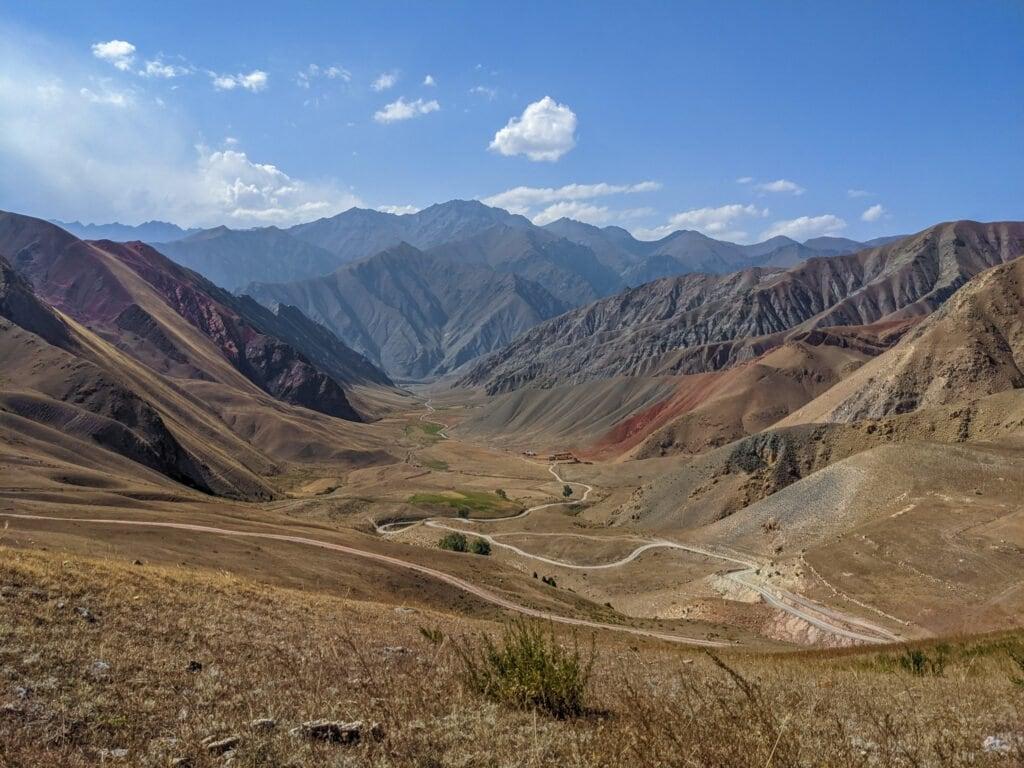 A View of a Valley Near Osh, Kyrgyzstan.
