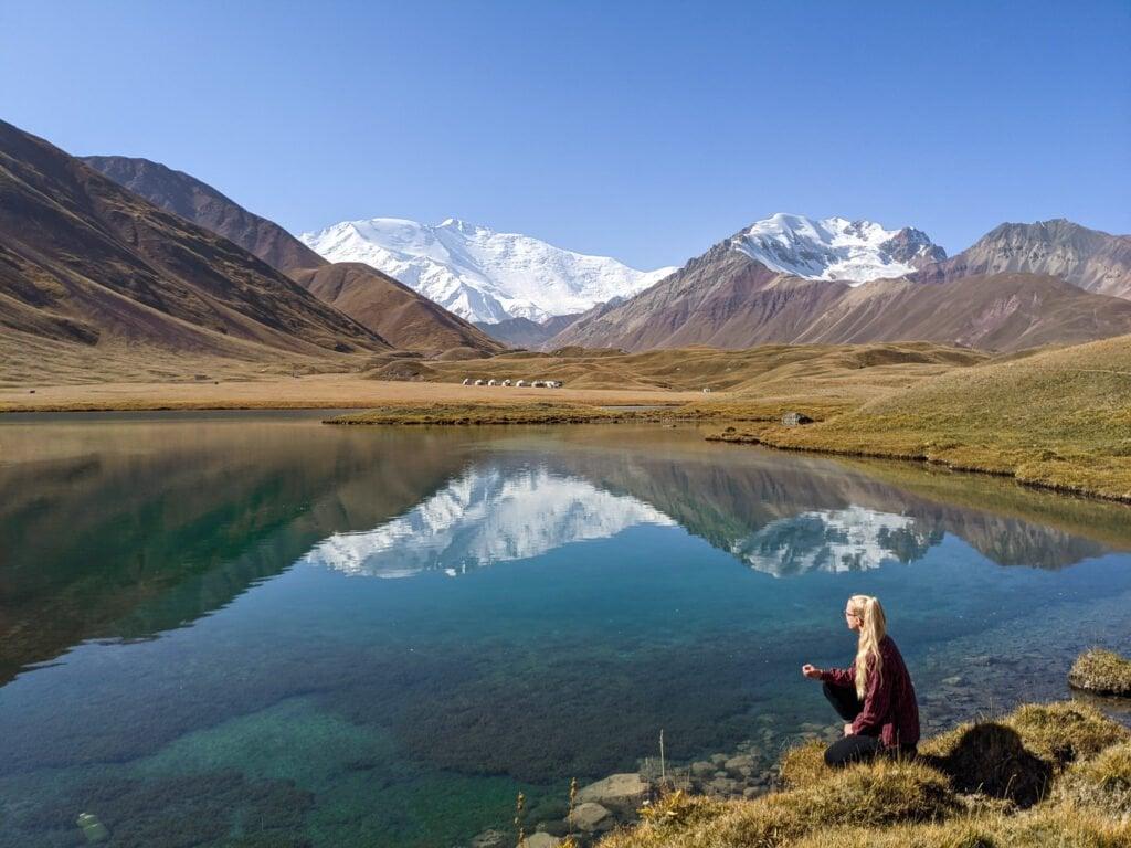 Sitting At Lake Tulpar, Kyrgyzstan.