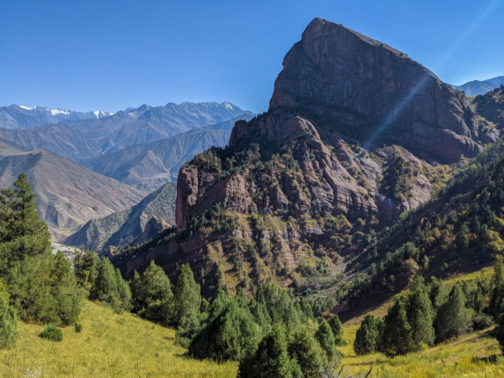 A View of the Mountains in Kyrgyzstan.