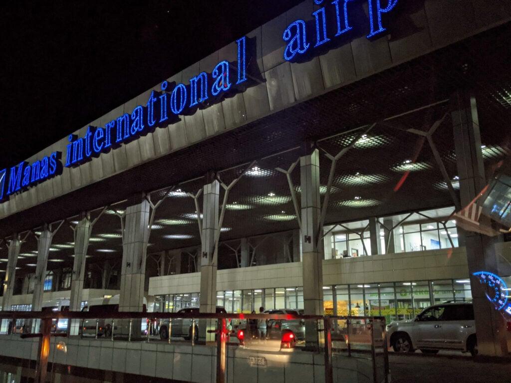 A Picture of Manas International Airport In Bishkek, Kyrgyzstan.