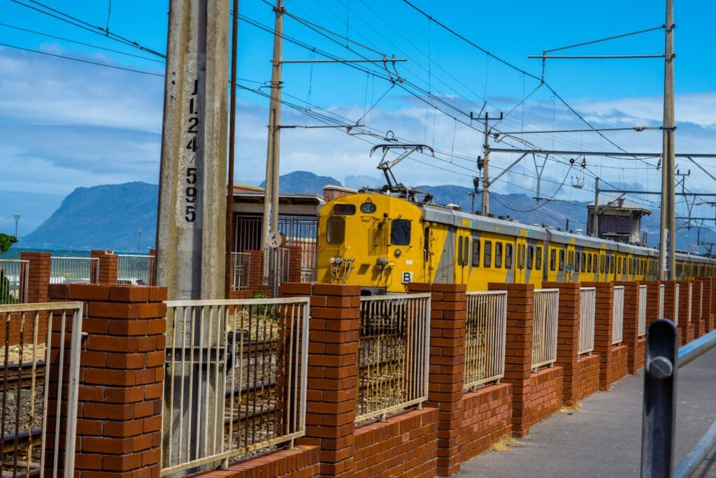Train Station In Cape Town; Riding The Train Can Be Dangerous, But If You Take Proper Cautions, You'll Be Safe.