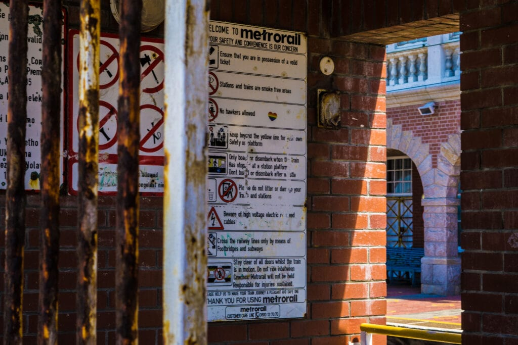 Train Stations In Cape Town Can Be A Dangerous Place If You Don't Take Proper Precautions.