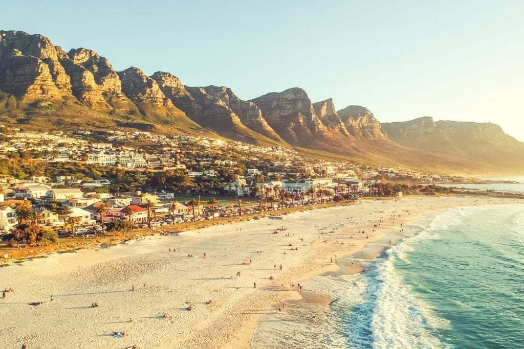 Cape Town's Beaches At Sunset.