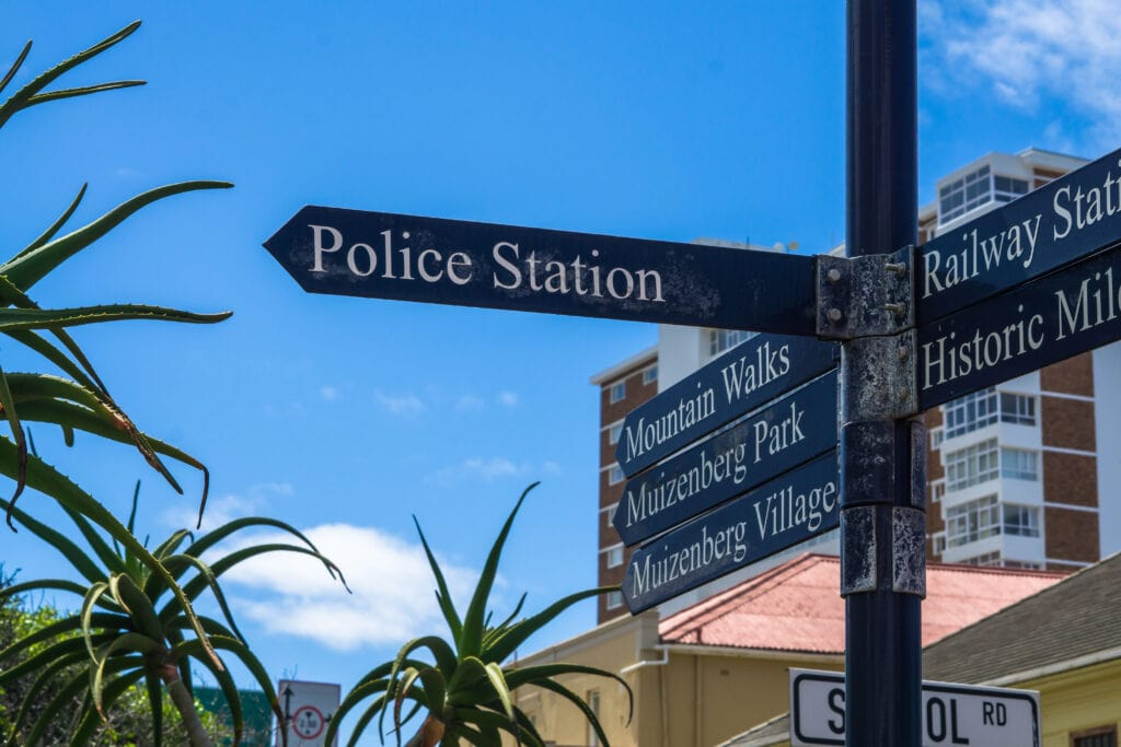 Police Station Sign In Cape Town.
